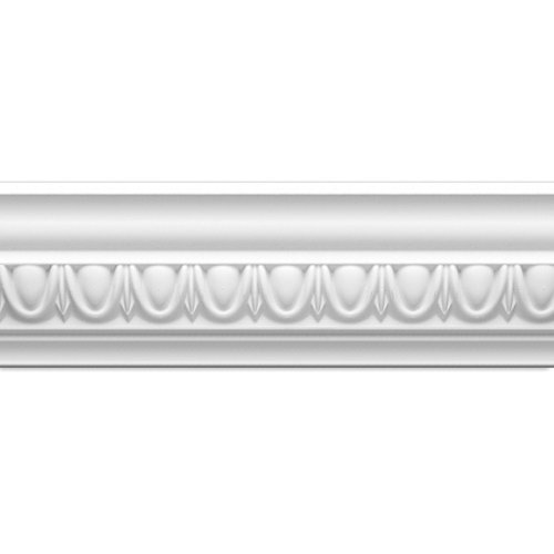 Focal Point 23135 4 1/8-Inch Classic Egg and Dart Crown Moulding 4 1/8-Inch by 8 Foot, Primed White, by Focal Point