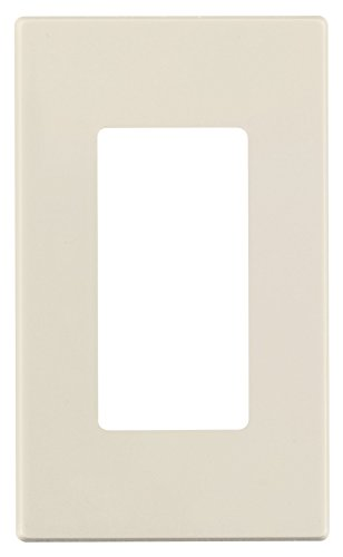 - Leviton 80301-ST 1-Gang Decora Plus Wallplate Screwless Snap-On Mount, Light Almond
