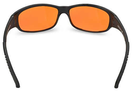 Blue Blocking Amber Glasses for Sleep - BioRhythm Safe(TM) - Nighttime Eye Wear - Special Orange Tinted Glasses Help You Sleep and Relax Your Eyes by Spectra479 (Image #3)