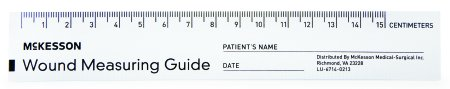 Mckesson Brand Wound Measuring Guide McKesson 6 Inch Paper NonSterile, Pad of 50
