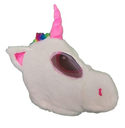 Plush Horse Animal Head Mask Halloween Unicorn Mascot -
