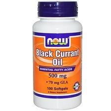 Now Foods Black Currant Oil 500 Mg, 70 Mg GLA 100 Softgels (1)