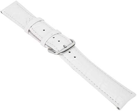 時計バンド、1ペアPUレザーの絶妙なユニセックス時計バンド、調整可能なバックル時計ストラップ交換アクセサリー、時計修理作業員用(白20mm)