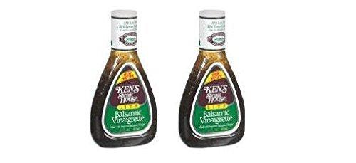 Ken's Steakhouse LITE Balsamic Vinaigrette Dressing (Pack of 2) 16 oz Bottles (Best Olive Oil Vinaigrette Dressing)