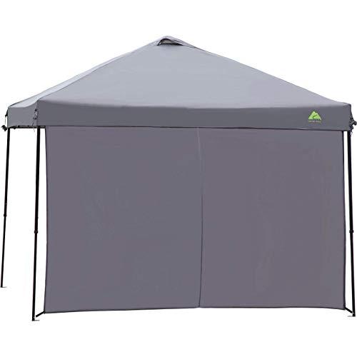 Sun Wall Shade Dark Gray 10 x 10 for a Straight Leg Canopy Gazebo 10×10 by Ozark Trail, UV 50