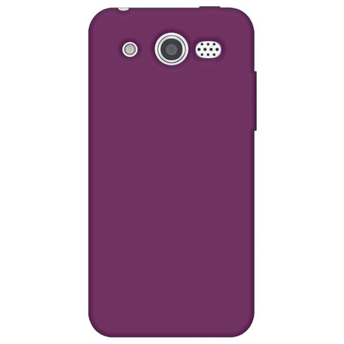 M886 Silicone (Amzer Silicone Skin Jelly Cover Protector Case for Huawei Mercury M886 - Retail Packaging - Purple)