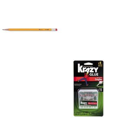 KITEPIKG58248SNUNV55400 - Value Kit - Krazy Glue Single-Use Tubes w/Storage Case (EPIKG58248SN) and Universal Economy Woodcase Pencil (Universal Office Economy Storage)