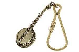 Brass Banjo (Banjo Music Keychain (Antique Brass))