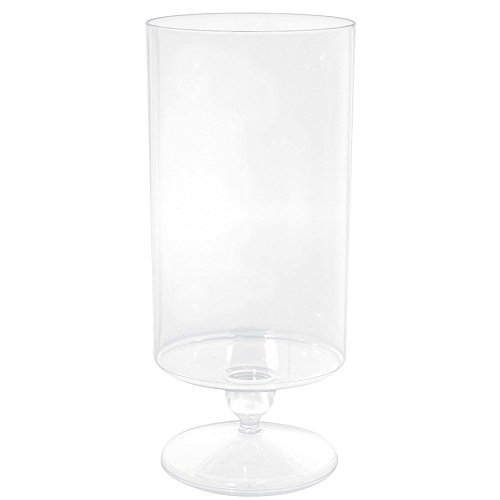 Amscan 431980 Party Supplies Tall Clear Plastic Pedestal Cylinder Container, 11