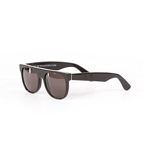 Retrosuperfuture Flat Top Black Fashion Sunglasses SUPER-524 - Super Sunglasses Retrosuperfuture
