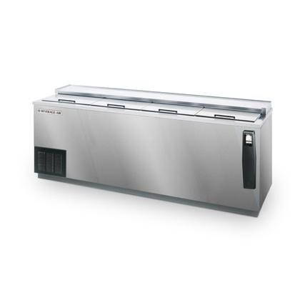 Beverage-Air DW94-S 95'' Deep Well Bottle Cooler 4 Lids and 6 Dividers 28.5 cu.ft. Capacity Stainless Steel Exterior and Bottom Mounted