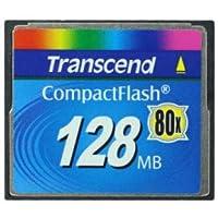 Transcend 128mb Compactflash Memory Card 128 MB Compact Flash Memory Card CF Type I
