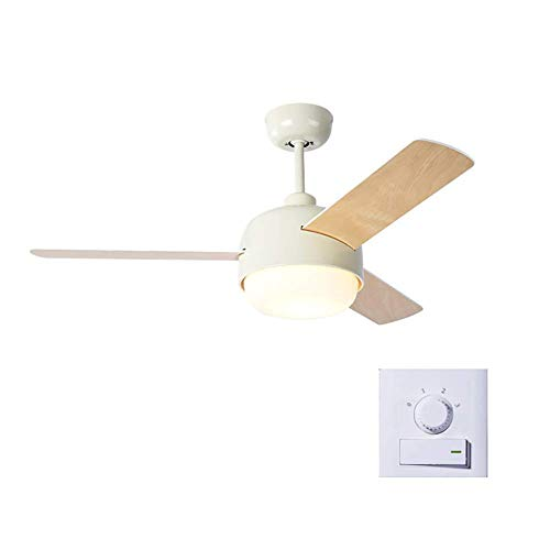 Ceiling Fans with Lights 44 inch Ceiling Fan with Lamp,Led and White Glass Light Bowl, White,A, ChuanHan, a, Wallcontrol