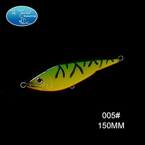 (Sinking Motion Buster Jerk Bait Lifelike Fishing Lure 150MM/74G - (Color: 150mm 005))