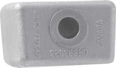 Canada Metal Rudder - Martyr Anodes CM393023M BRR OMC/Johnson Evinrude Anode, Magnesium