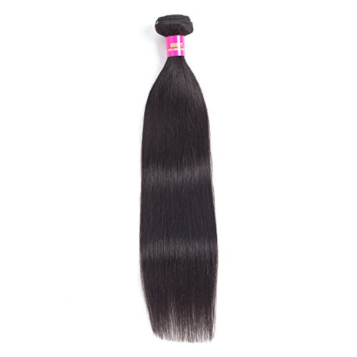 USOFT 8A Brazilian Straight Human Hair 1 Bundle Natural Black Color 100% Unprocessed Brazilian Virgin Hair Soft And Tangle Free(18