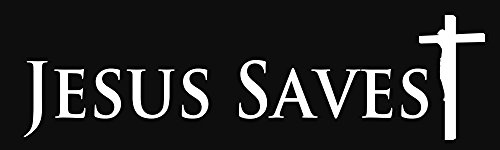 (BuildASign Jesus Saves Bible Religious Bumper Stickers)