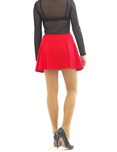 rides rock mini haute jupe lastique et swing Rose jupe Taille ceinture jupe CXwTExIdq