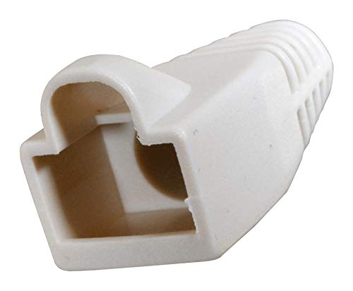 Boot 1POS White CINCH CONNECTIVITY AIM CAMBRIDGE PVC 32-2900WH RJ45 Plug Connector