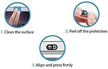 metal AviBrex Webcam Cover, Ultra Thin Design Laptop Camera Cover Slide Fits Ipad Echo Spot Smartphones Tablets MacBook Pro Laptop Computers Strong Adhesive,Protecting Privacy/& Security 3Packs
