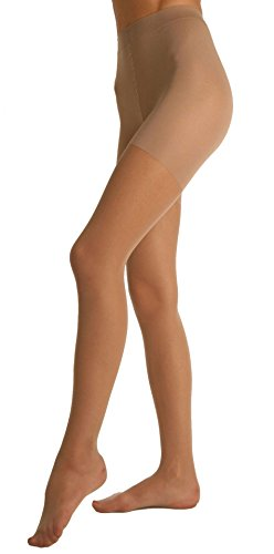 Berkshire Silky Extra Wear Sheer Control Top Pantyhose - Sandalfoot, Natural Tan, (Berkshire Silky Control Top)