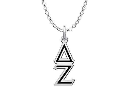 Delta Zeta Sorority Black Lavaliere Charm.