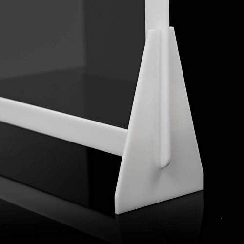 Lowcost Marco de PVC Marco Color Blanco  Soportes PVC 80 x 50 cm Mampara de protecci/ón Policarbonato Modelo Belfast 2