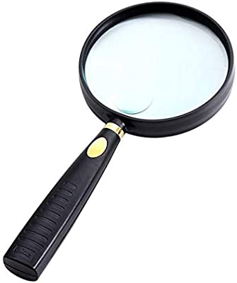 MAGNIFIER KEY CHAIN 3x MAGNIFICATION FAUX LEATHER BODY