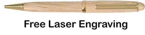 Maple Wood Pens Free Laser Engraving