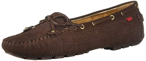 Marc Joseph New York Women's Cypress Hill Driving Style Loafer, Brown Plaid Nubuck