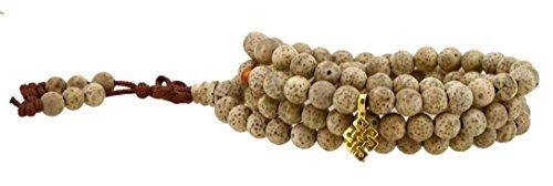 Hinky Imports Unisex 108 Meditation Yoga Tibetan Buddhist Bodhi Lotus Seeds Worry Prayer Beads Mala Bracelet Necklace (Eternity (Eternity Bead)