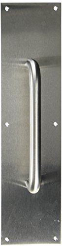 (Deltana PPH4016U32D 4-Inch x 16-Inch Stainless Steel Pull Plate with Handle)