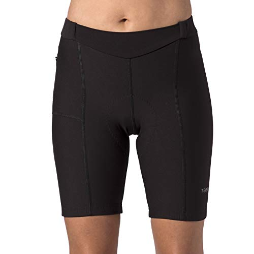 Terry Women's Touring Cycling Shorts/Regular - Best Padded Compression Multi-Day, Moisture-Wicking Cycling Shorts for Touring - Black - X Large