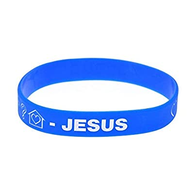 Sxuefang Silicone Bracelets With Logo Jesus Rubber Wristbands For Christian Creative Gift For Kids Set Pieces Estimated Price £29.99 -
