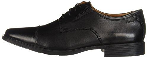 Clarks Men's Tilden Cap Oxford Shoe,Black Leather,13 M US