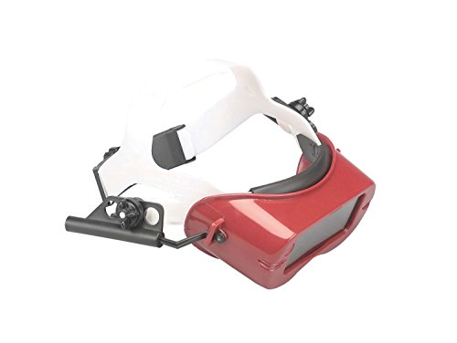 Jackson Safety 15988  WA Series Cutting Goggles,  IRUV Shade 5.0 Lens with Red Frame and Headgear