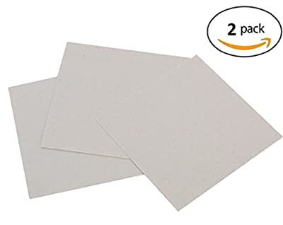 GZFY 15cm x 15cm 6 x 6 Inch Microwave Oven Repairing Part Mica Plates Sheets 2 pieces