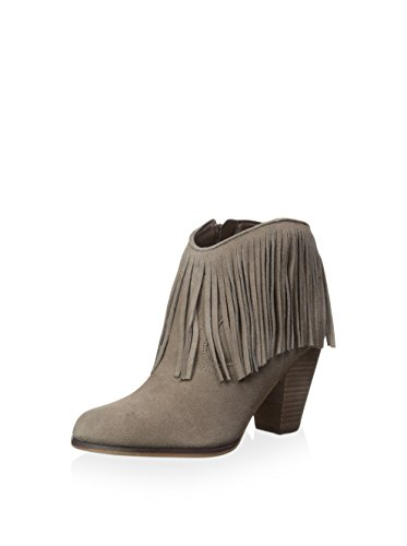 Boho-Chic Vacation & Fall Looks - Standard & Plus Size Styless - STEVEN By Steve Madden Women's Bootie with Fringe, Taupe Suede, 7.5 M US