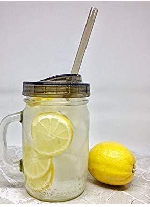 2 Ball Glass Mason Drinking Jars with 2 Sip and Straw Lids (2, 24oz Mug) by Ball (Image #4)