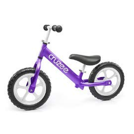 Cruzee Ultralite Balance Bike (4.4 lbs) for Ages 1.5 to 5 Years | Purple - Best Sport Push Bicycle for 2, 3, 4 Year Old Boys & Girls- Toddlers & Kids Skip Tricycles on The Lightest First Bike