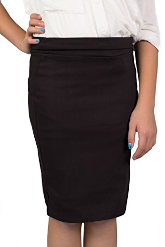 CALDORE USA Girls Pencil Skirt Black X-Large