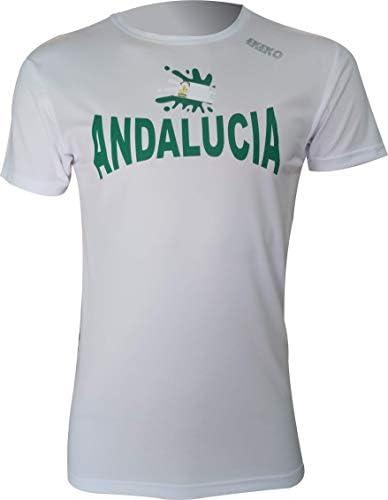 Ekeko Andalucia, Camiseta Hombre Manga Corta, para Running, Atletismo y Deportes en General, Muy Transpirable y Ligera (S): Amazon.es: Deportes y aire libre