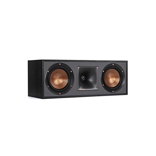 Klipsch R-52C Powerful detailed Center Channel Home Speaker - Black (Klipsch Audio Speakers)