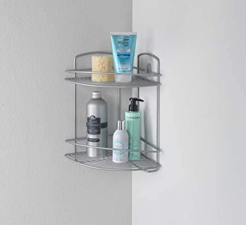 Metaltex Rinconera baño 2 Pisos, Gris Metalizado: Amazon.es: Hogar