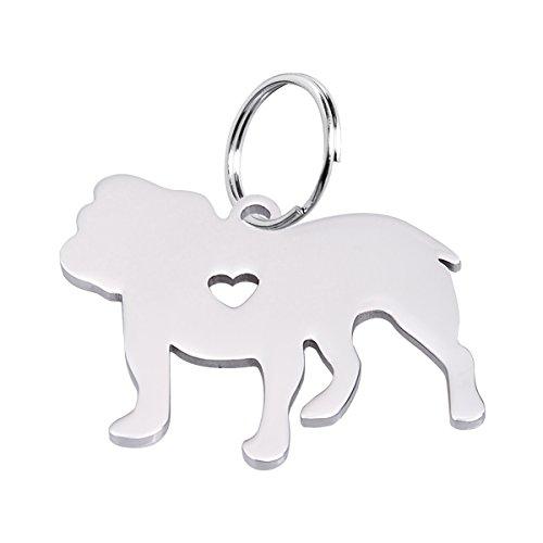silver bulldog keychain - 3