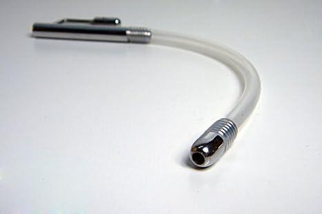 Dilatador para pene con anillo para glande de Greenpinecone® - 185 mm de largo - Cánula de plástico flexible - Tapón para la uretra - Bondage, sadomaso, ...