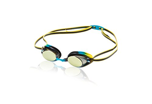 Speedo Jr. Vanquisher 2.0 Mirrored Swim Goggle, Vivid Teal, One Size