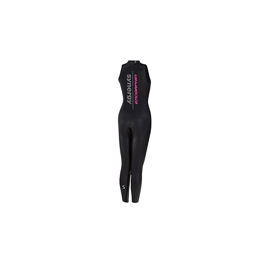 Synergy Triathlon Wetsuit 5/3mm Women's Endorphin Sleeveless Long John Smoothskin Neoprene for Open Water Swimming Ironman & USAT Approved