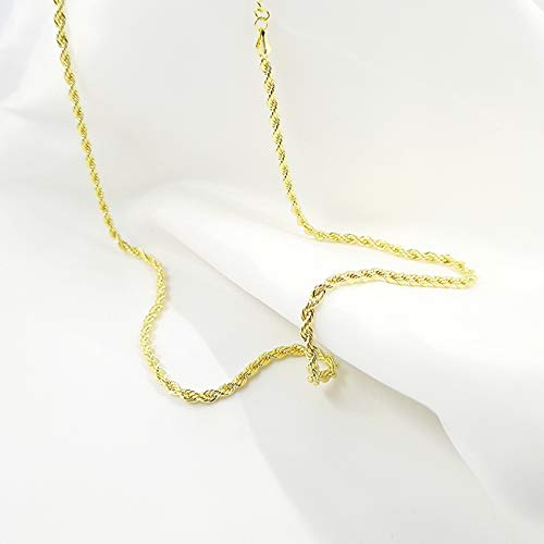 Cuban Chain Bracelets Gold Plated Link Homme/Femme,Rope Chains, Bijoux Fantaisie,19/45CM Gold (45)