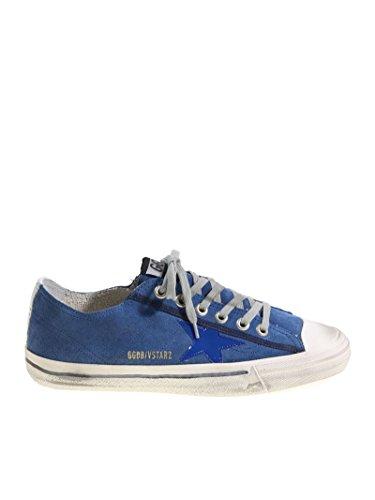 Gouden Gansmensen G32ms639q7 Blauwe Suède Sneakers